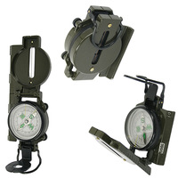 Metal Army Style Compass Military Camping Hiking Survival Marching Lensatic