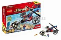 Baby Toys Decool 7106 Building Blocks Super Heroes spiderman big green goblin Minifigures Bricks action Toys