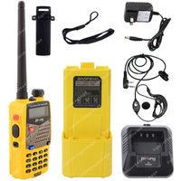 Pofung UV-5RA VHF/UHF Dual Band 3800mAh Extended Battery FM Two Way Radio   Yellow LB0584