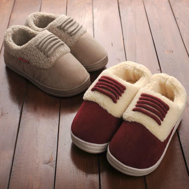 [해외]연인 신발의 집 열 농축 미끄럼 방지 달은 남성 솜 패딩 겨울..