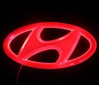 4D Auto logo light Cold light Car Badge Light  For HYUNDAI Sonata 13x6.55cm   Rear Light