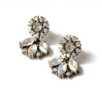 Min order is $10(mix order)Fashion 2015 Designer Crystal Rhinestone Shining Drop Earrings For Women Jewelry