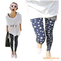 Free shipping AL010 Spring fashion Leggings wholesale five jiao stars stretch feet pencil pants