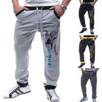 Fashion Spring 2015  New Men's Letters printed  Jogging trousers Casual Sports men Jogging / Dance long pants 4colors
