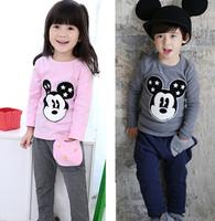 Free shipping - 2015 children suit spring model Han edition cotton private suit T-shirt haroun pants, children's wear