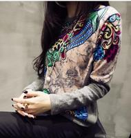 Free Shipping 2015 Women Hoody Spring Autumn Long Sleeve Casual Sweatshirt Vintage Hoodies Moletom Feminine