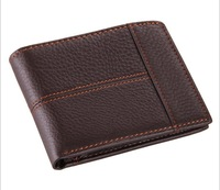 Free Shipping!New Vintage High Quality  Male Wallets Genuine Leather Fashion Short  Men Purses  Men Wallets  C3343