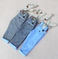 QT64 new 2015 warm boy overall kids pants children clothing 2-7 age brand boys harem pants free shipping 5pcs/ lot