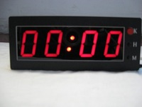Indoor led hour and minute clock