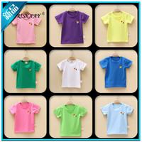 Children's clothing 2014 100% cotton child t-shirt children all-match 100% cotton short-sleeve T-shirt