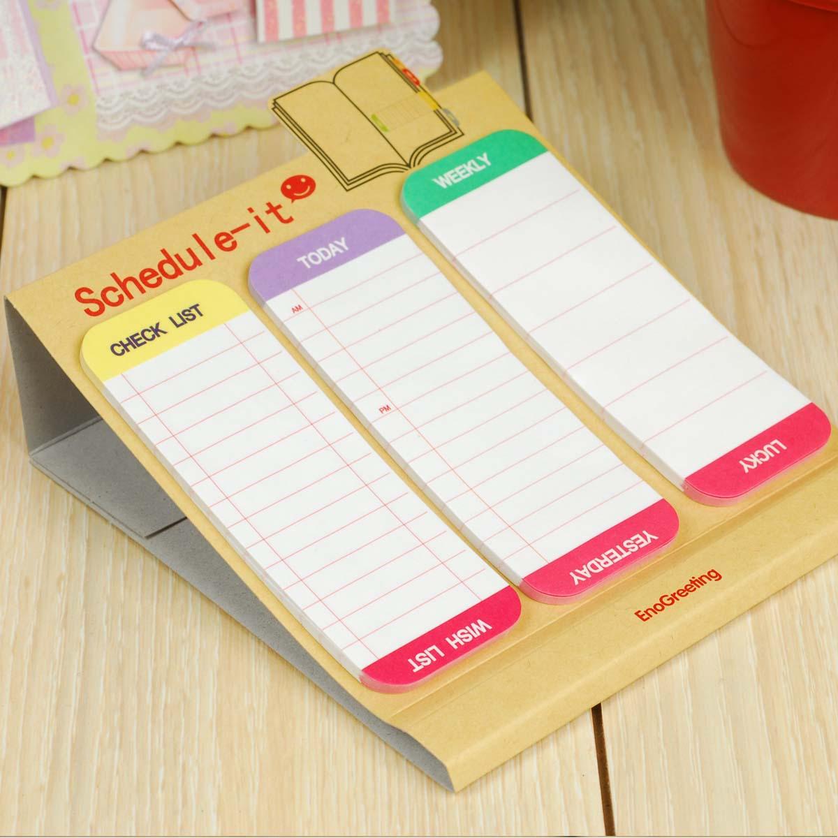 2016 Wholesale Mini Memo Pad Small Checklist Agenda Planner To Do ...