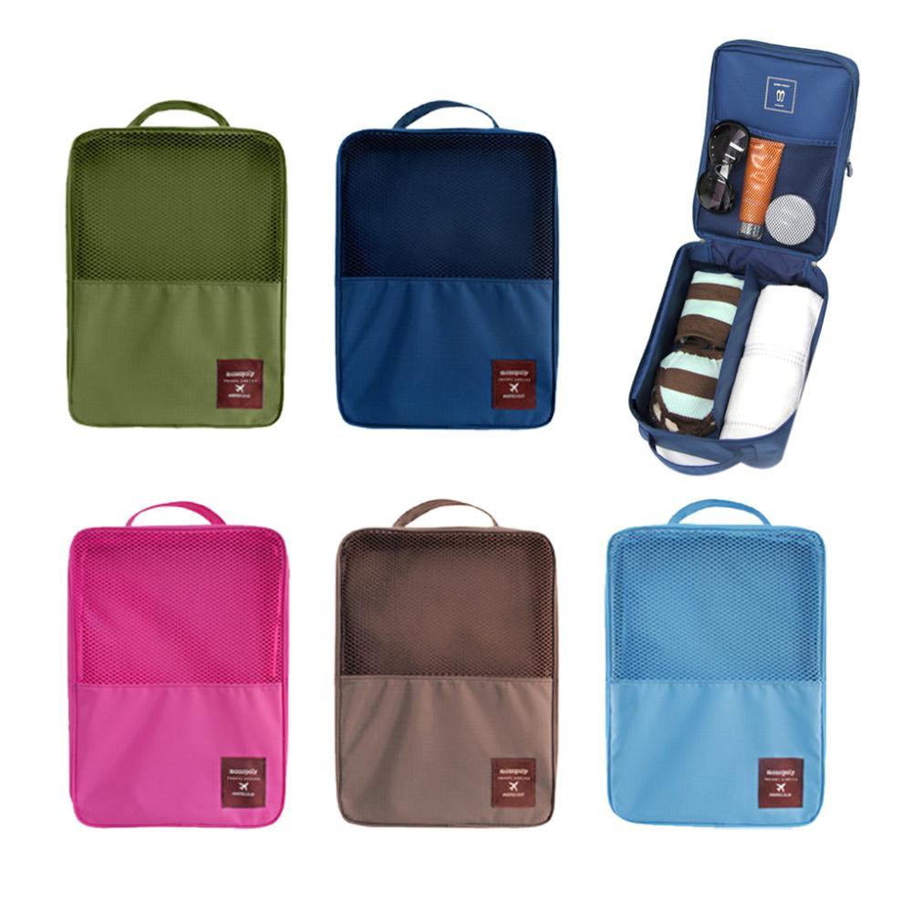 2015 New Fashion Womens mens Neylon Shoes bag Waterproof Underwear Storage Box Travel Cosmetic Toiletry Makeup Bags(China (Mainland))