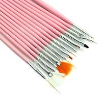 B39 2015 Newest 15pcs Useful Nail Art Acrylic UV Gel Design Brush Set Painting Pen Tips Tools  free shipping
