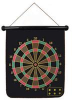 Indoor Sport Double Target Nerf Dart Gun 2 Side Magnetic Flocking Dartboard Free 4 Darts + 1Dart Board 29*35.5cm PA672884