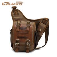Hot Sale KFUKKO Men's Travel Bags Canvas tide restoring ancient ways men's bags Fashionable man shoulder bag Free Shipping