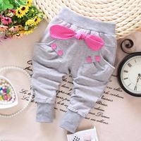 4pc/lot baby girls pants harem wholesale kids trousers children panys cotton bow panya a014
