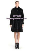 BG70805 Women's Genuine Mink Fur Coat Detachable Sleeve Slim-fitting  Long Style Ladies' Winter Warm Fashion Choice