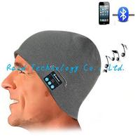 Smart Talking Keep Warm Music Beanie Hat w/ Built in Wireless Bluetooth Stereo Headphones - Black