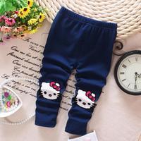 4pc/lot baby girls leggings kitty 2015 spring kids leggings cotton children clothing wholesale a013