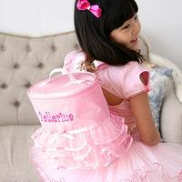 SKL S7078 Sweet girl Backpacks dance bag ballet accessories children shoulder lace bags baby birthday gift pink/purple hot sale