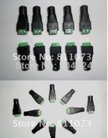 2 pcs,Led strip dc female jack power adapter Connector for 5050/3528 LED Strip Light Single Color