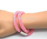 Hot Factory Price!Punk Style Stardust Bracelet, Crystal Jewelry Bracelets, Jewelry Bracelet Crystal 13 Color Can Choose SL010