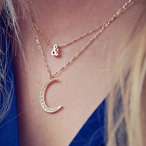 Sunshine jewelry store 2015 I Love You to the moon and back big moon necklace