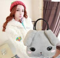 Personality female velvet handbag, new lovely fund of autumn and winter top soft nap rabbit bag shoulder bag