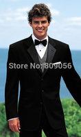 2015 New Arrival Black Groom Tuxedos terno noivo Groomsman Wedding Business Suits for Men (Jacket+Pants+Vest+Tie) S208