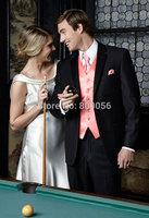2015 Custom Black Groom Tuxedos Groomsman terno noivo Notch Lapel Wedding Suits For Men (Jacket+Pants+Vest+Tie) S198