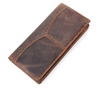 Free Shipping!New Vintage High Quality  Long Male Wallets Genuine Leather  Fashion Men Purses  Men Wallets  C3350