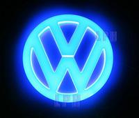 4D Auto Logo Light Cold light car badge light  for Volkswagen VW Tiguan  Diameter 11cm