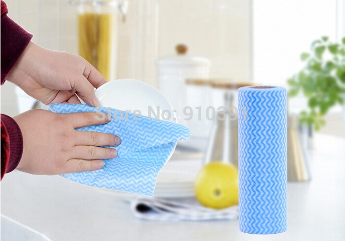 50pcs/Roll,Multipurpose Non woven duster cloth dish cloth as break point no oil rag for furniture kitchenware cleaning prouct.(China (Mainland))