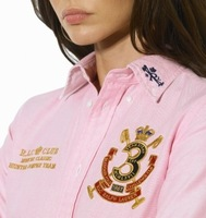 Good Quality! S-XL 2015 New Brand Fashion Women Shirts Casual Plus Size Blouses Drop Shipping Embroidery logo #7016