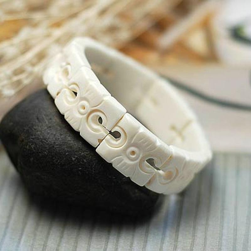2015 New Pulseira Pulseiras Femininas Bracelets Yunnan Ethnic Characteristics Handmade Jewelry Pieces Carved Bracelet Specials(China (Mainland))