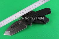 Free shipping high qulaiy 440C steel Blade Stone washed Steel + G10 Handle Folding Knife pocket knife