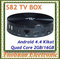 Latest 16GB Beelink Amlogic quad core s82 tv box s802 Cortex A9 2.0ghz bluetooth wifi hdmi android 4.4 s82 tv box 10pcs/lot DHL
