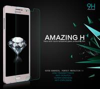 50pcs A7 Tempered Glass Flim,NILLKIN Amazing H Nano Anti-burst Tempered Glass Screen flim For Samsung Galaxy A7 A700 + DHLfree