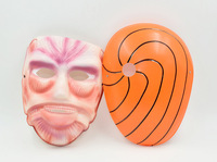 2015 Hot Sale 2PCS Attack On Titan/Naruto Cosplay  Mask  PVC Halloween Carnival Japanese Cartoon Party Mask  New Arrival