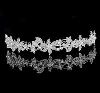1piece/bag korean crown/tiara silver rhinestone crystal crown lady/girls party favor tiara bridal wedding crown retail wholesale