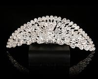 hot selling lady/girls silver rhinestone crystal crown/tiara design for party/bridal wedding crown/tiara jewelry accessory !!