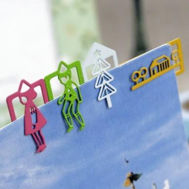 PET limited modeling bookmark selling (12PCS) (Pink) Several Shippings(China (Mainland))