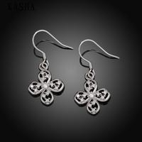 Free shopping 18K gold plating earrings Fashion High Quality zircon earrings KASHAE018
