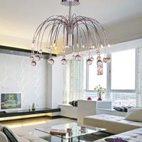 Dandelion crystal chandelier lighting modern minimalist Ceiling