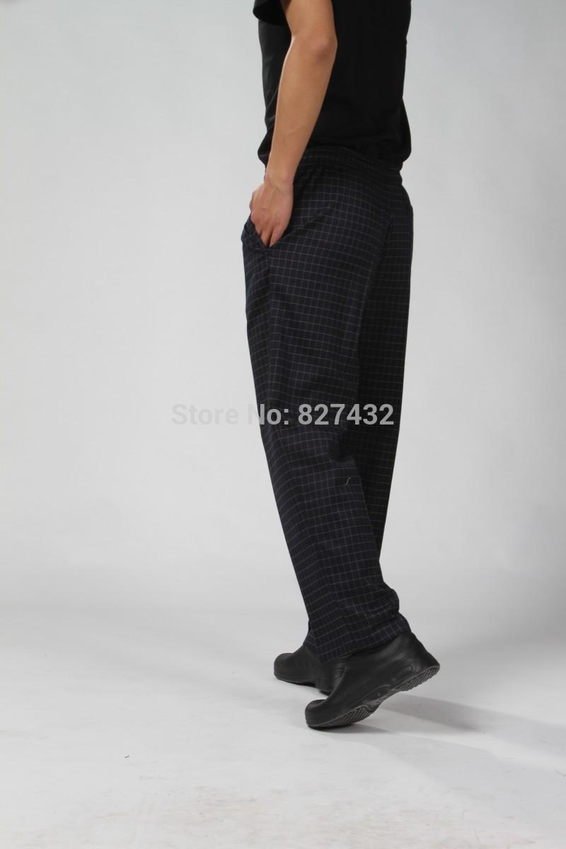 Free Shipping Elastic Check Bag Chef Pants Men's chef Pants Chef Uniforms for sale(China (Mainland))