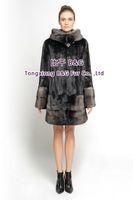 BG70818 Women's Genuine Mink Fur Coat  Stand Collar Long Style Ladies' Winter Warm Fashion Choice