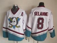 2015 New Anaheim Ducks Jerseys Ice Hockey Jersey Mix Orders Embroidery Logos #8 Teemu Selanne White CCM Vintage jersey1458