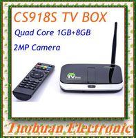 2015 New Original CS918S 1G/8G Android 4.4 TV BOX 2.0MP Camera Mic Allwinner A31S Quad Core XBMC Bluetooth HDMI Media Player