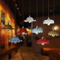 Old Shanghai vintage crystal chandelier single head of creative living room chandelier bar restaurant lights petals