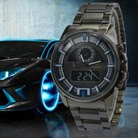 LED Military Watches Men Quartz Analog Digital Reloj Full Steel Waterproof 30M Relogios Masculino Wristwatches Men